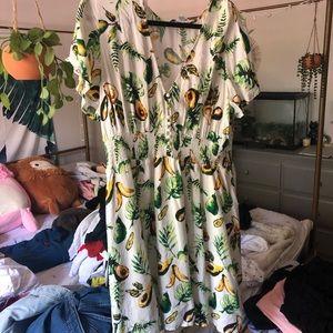 forever 21+ avocado dress